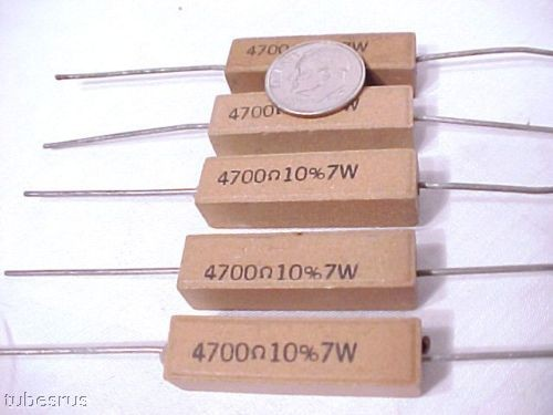 4.7K OHM 7 WATT TUBE POWER AMPLIFIER PREAMP RESISTORS