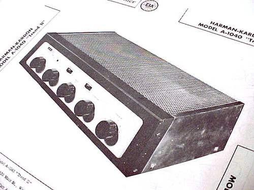 HARMAN KARDON A-1040 TUBE AMPLIFIER PHONO MIC SCHEMATIC