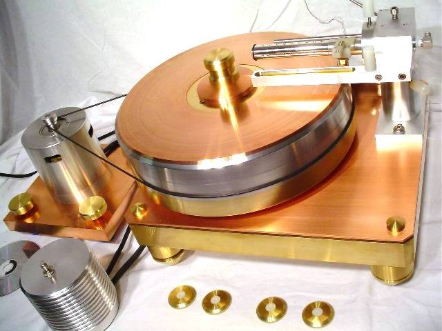 Tritium moving coil LP record air bearing tonearm turntable