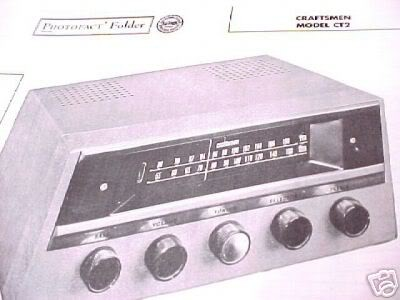 CRAFTSMEN TUBE AMP PREAMP CT2 TUNER SCHEMATIC MANUAL