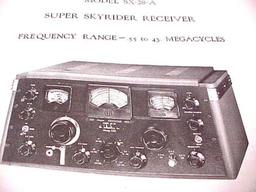 HALLICRAFTERS SUPER SKYRIDER SX-28 TUBE RADIO RF MANUAL