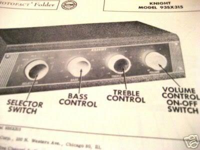 KNIGHT 93SX315 TUBE AMP PREAMP MIXER SCHEMATIC MANUAL