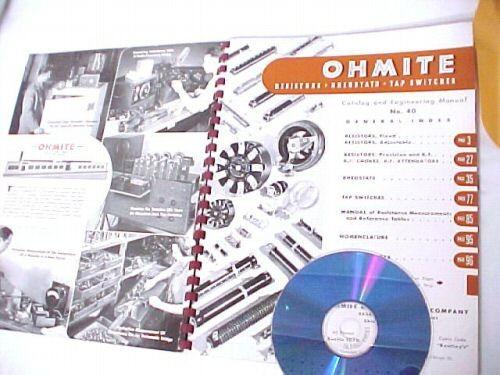 1942 OHMITE AMP TUBE RESISTOR RHEOSTAT SWITCH CATALOG