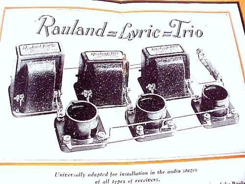 RAULAND LYRIC TRIO AUDIO AMPLIFIER RADIO AMP CATALOG
