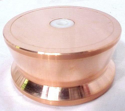 TRITIUM COPPER TURNTABLE LP RECORD PHONO WEIGHT 33 RPM