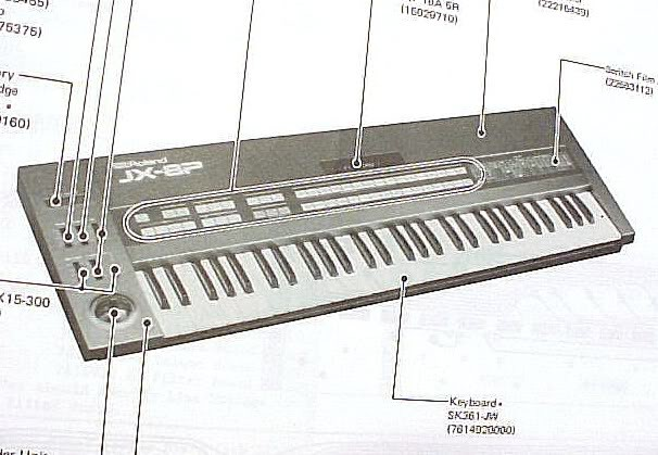 ROLAND JX-8P PG-800 KEYBOARD SERVICE SCHEMATIC MANUAL
