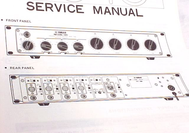 YAMAHA F1040 OP SERVICE SCHEMATICS CROSSOVER MANUAL