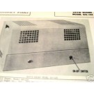 BOGEN GO-125 TUBE AMP PREAMP MIXER SCHEMATIC MANUAL