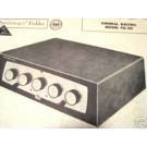 GENERAL ELECTRIC PA20 TUBE AMP PREAMP SCHEMATIC MANUAL