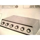 KNIGHT 94SZ701 94SZ709 TUBE AMP PREAMP SCHEMATIC MANUAL
