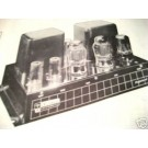 PEDERSEN W-50 6550 TUBE AMPLIFIER SCHEMATIC MANUAL